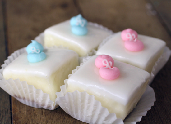 Cake Squares For Baby Shower