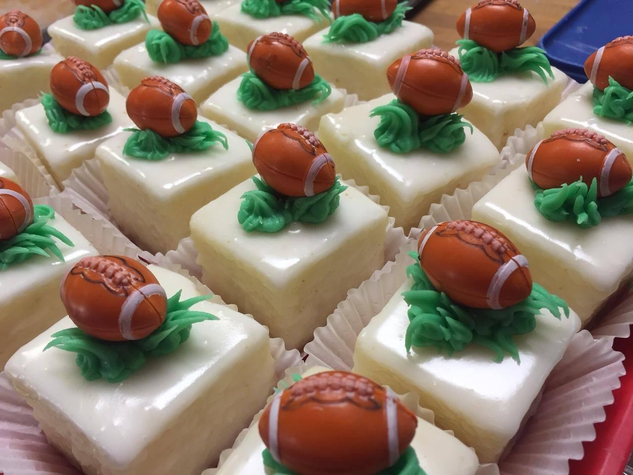 Football Cake Squares