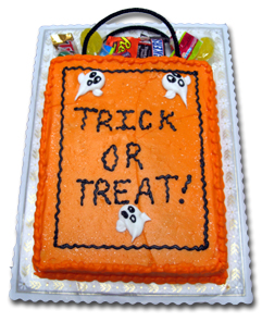 trick or treat bag halloween cake