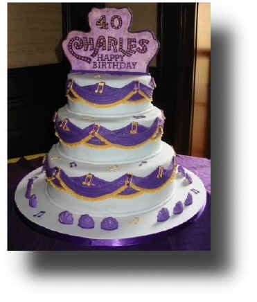 Three Tier Rolled Fondant Birthday Cake With Custom Topper